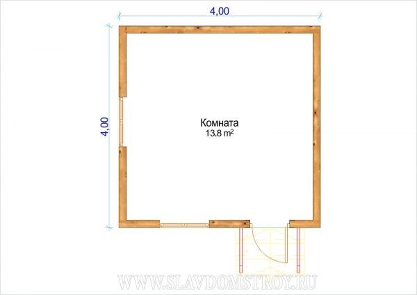 Дом из бруса 4х4м «Д-1»